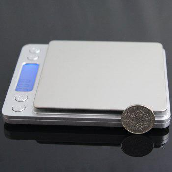High Precision Weighting Food Kitchen Electronic Scale - 12.7*10.6*1.9CM(500G/0.01G) 12.7*10.6*1.9CM(500G/0.01G)