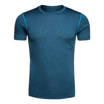 Selvedge Embellished Crew Neck Quick Dry Training T-shirt