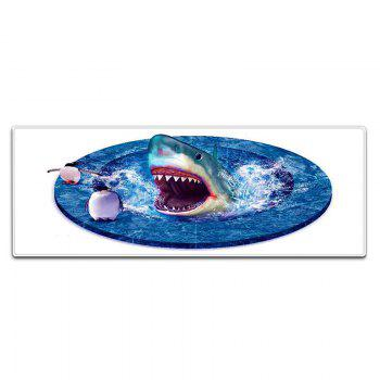 Shark 3D Pattern Indoor Outdoor Area Rug - BLUE W24 INCH * L71 INCH