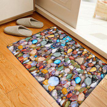 Sea Stone Pattern Indoor Outdoor Flannel Area Rug