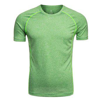 Crew Neck Quick Dry Raglan Sleeve Training T-shirt