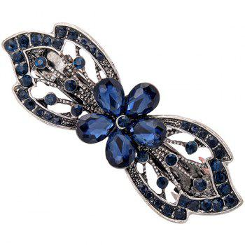 Alloy Hollow Out Flower Faux Gem Barrette