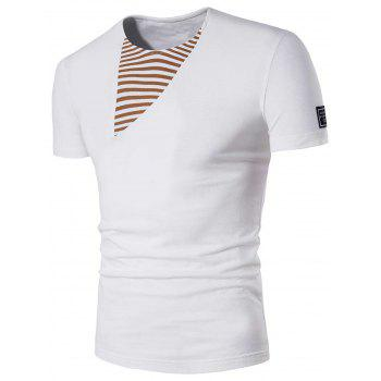 Patch Design Striped Panel Tee