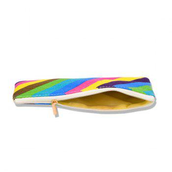Portable Rainbow Stripes Makeup Bag