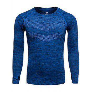 Printed Quick Dry Long Sleeve Training T-shirt