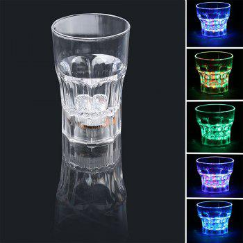Liquid Inductive Rainbow Color LED Flash Whisky 285ml Mug