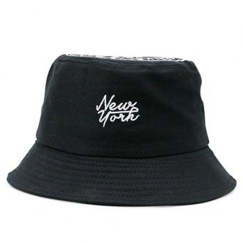 Letters Printing Top Icon Embellished Bucket Hat
