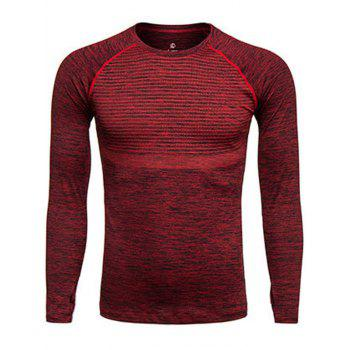 Polka Dot Print Quick Dry Long Sleeve Training T-shirt