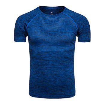 Crew Neck Quick Dry Polka Dot Print Training T-shirt