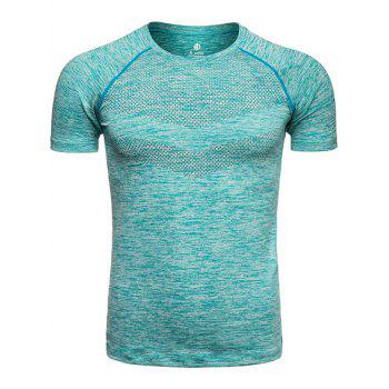 Crew Neck Quick Dry Raglan Sleeve Printed Training T-shirt