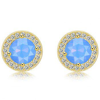Rhinestone Round Fake Cystal Inlaid Stud Earrings