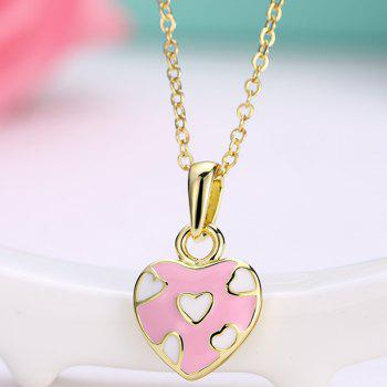 Pleting Heart Embellished Pendant Necklace