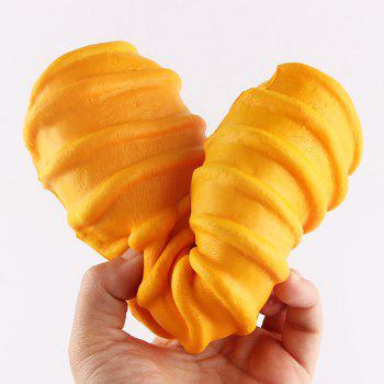 1Pcs Slow Rising Caterpillar Bread Shaped Squishy Toy - YELLOW YELLOW