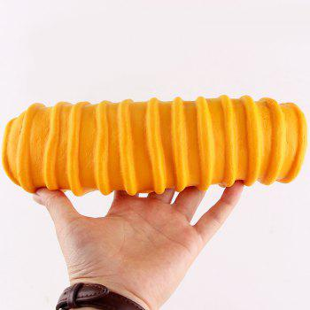 1Pcs Slow Rising Caterpillar Bread Shaped Squishy Toy -  YELLOW
