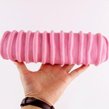 1Pcs Slow Rising Caterpillar Bread Shaped Squishy Toy - PINK