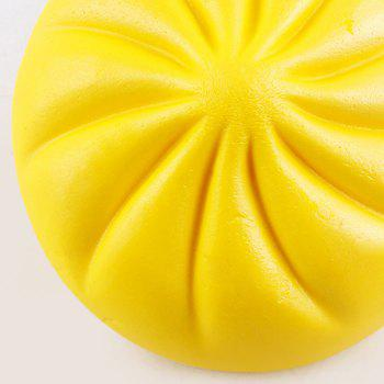 Bun Shape Squishy Charm Toy - YELLOW