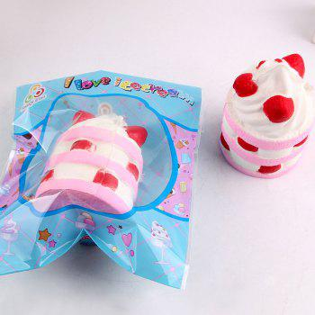Simulation Ice Cream Squishy Toy -  PINK