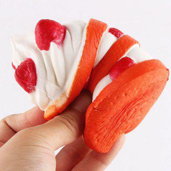 Simulation Ice Cream Squishy Toy - ORANGE ORANGE