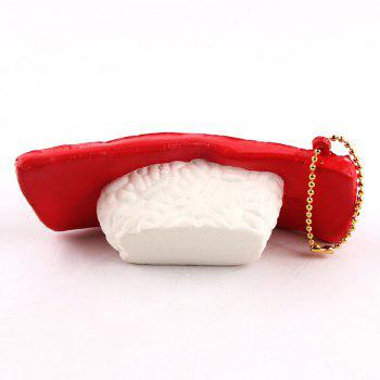 Poisson Sushi Shape Simulated Food Squishy Toy - Rouge