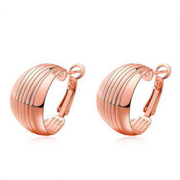 Wide Plated Hoop Earrings