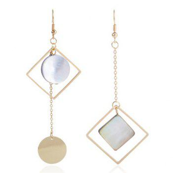Geometric Disc Drop Earrings