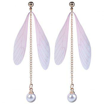 Faux Pearls Wing Earrings