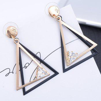 Hollow Out Geometric Drop Earrings - GOLDEN