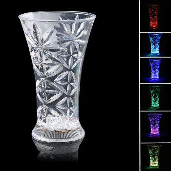 Flash LED Inductive Rainbow Color Luminous Snowflake Cup
