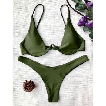 Underwired Plunge Bathing Suit
