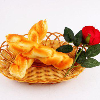 Slow Rising Twist Bread Shape Squishy Toy -  YELLOW