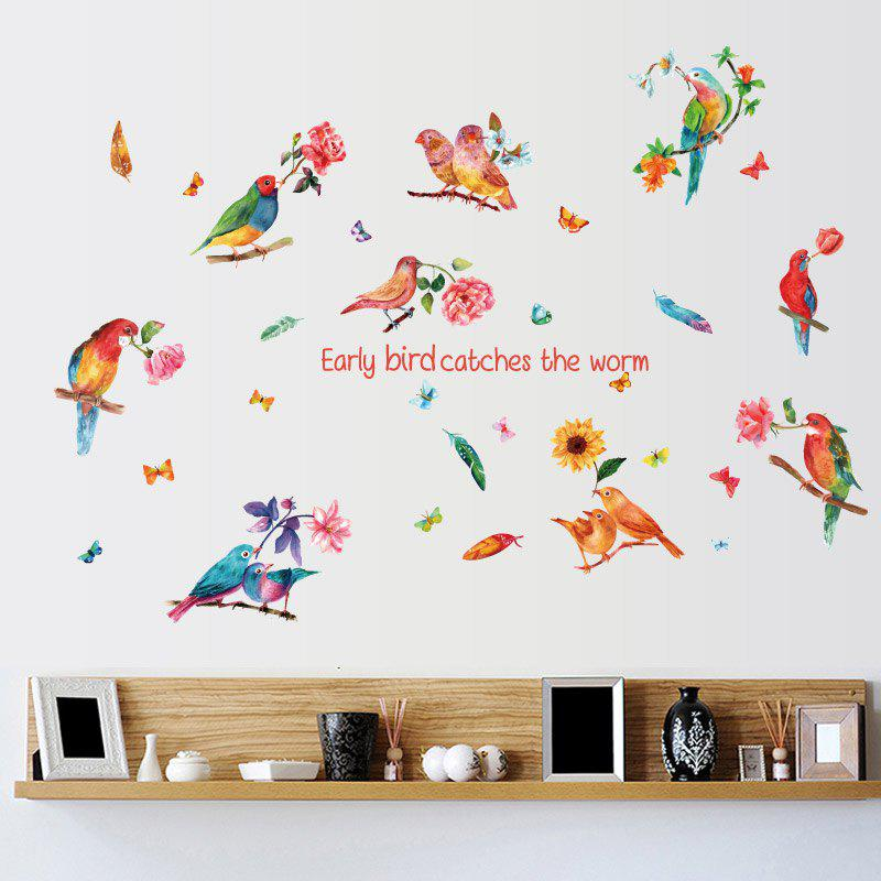 Inspiration Quotes Bird Flower Wall Sticker все цены