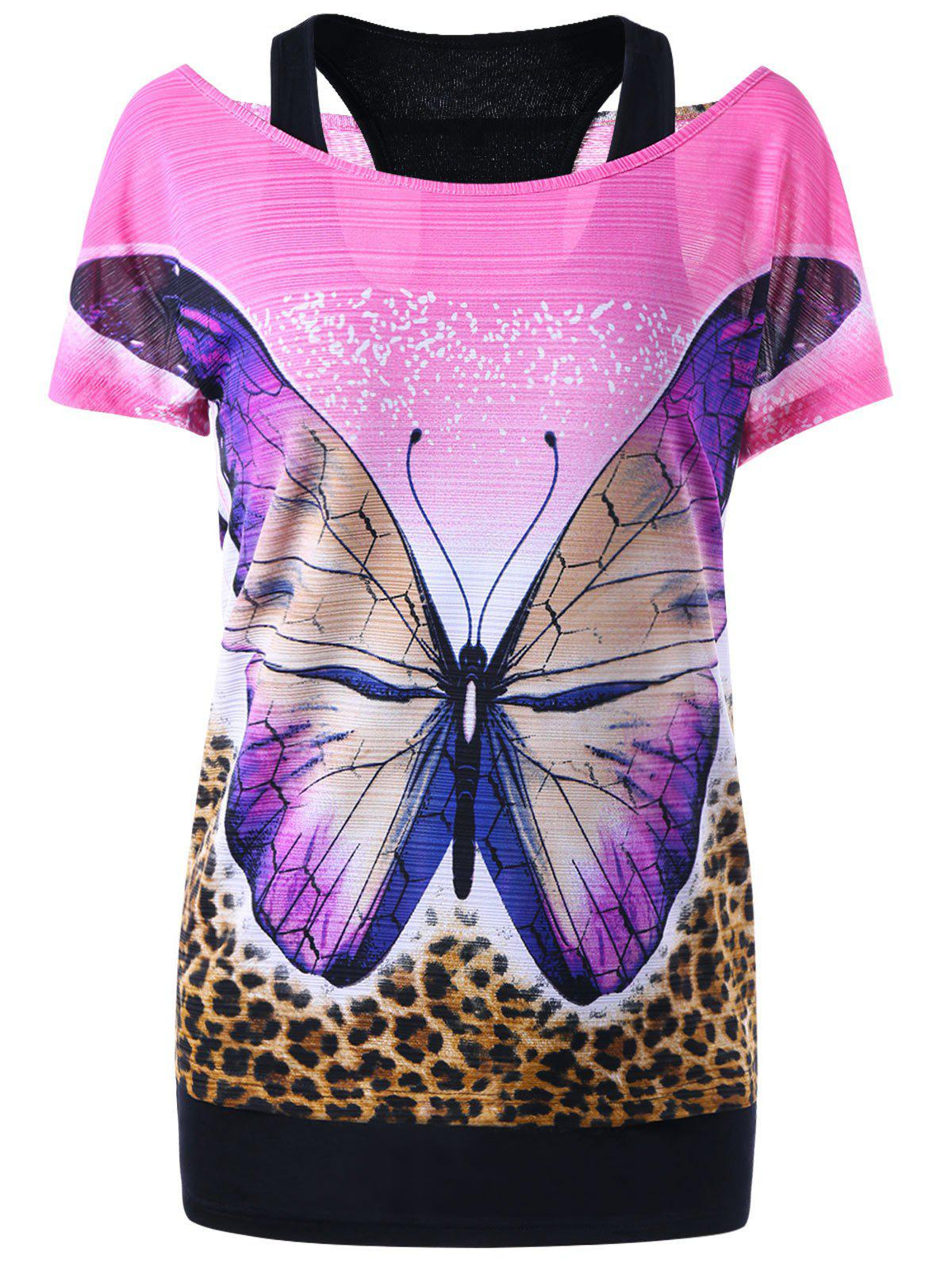 Racerback Tank Top and Butterfly Tee sequins graphic racerback tank top