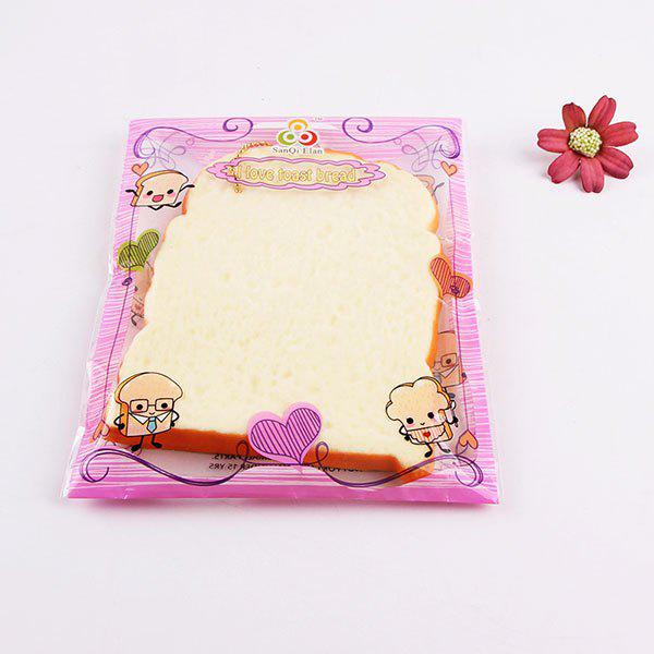 1Pcs Slow Rising Toast Slice Piece Bread Fun Squishy Toy - BEIGE
