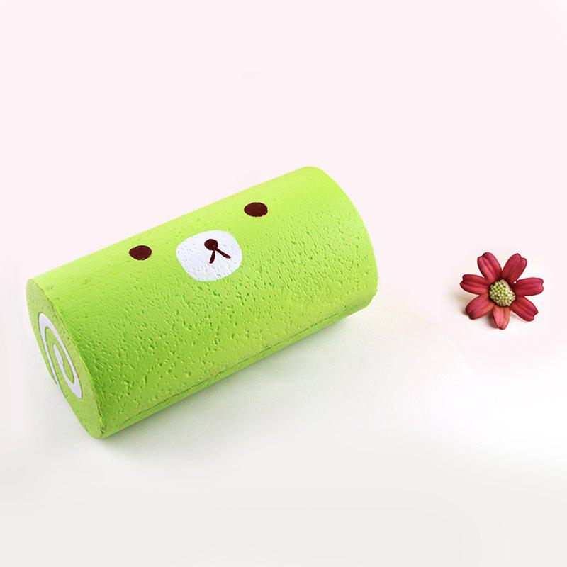 Soft Cake Roll Stress Relief Squishy Toy - GREEN