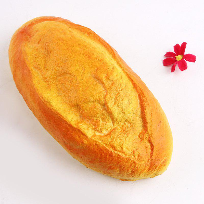 PU Simulation Coconut Milk Bread Squishy Toy - YELLOW