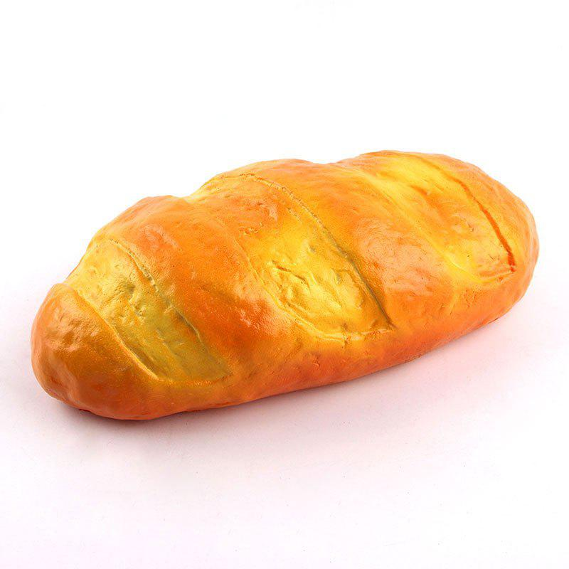 PU Simulation Bread Squishy Toy - YELLOW