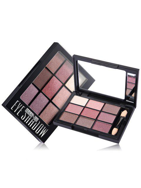 Shimmering 9 Colors Eyeshadow Palette with Brush - 02