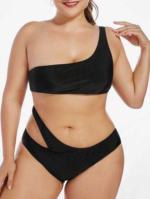 fafbcc10583ef 17% OFF  2019 One Shoulder Plus Size Monokini One Piece Swimsuit In ...