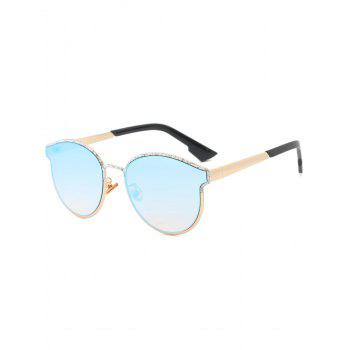 Piebald Frame Spliced Butterfly Shape Sunglasses