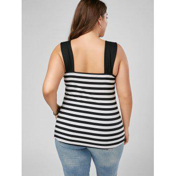 Striped Sleeveless Plus Size Top - STRIPE XL