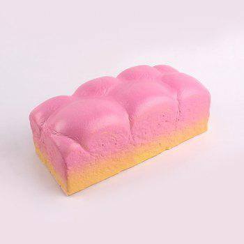 Slow Rebound Large Squishy Bread Decompression Toy - PINK