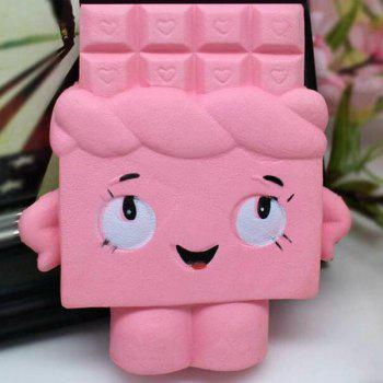 Slow Rising Squishy Chocolate Person PU Simulation Toy - PINK PINK