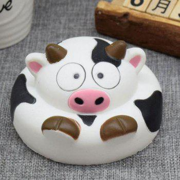 Simulation Milk Cow Cartoon Slow Rising Squishy Toy - BLACK WHITE BLACK WHITE
