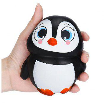 Cartoon Penguin Squishy Animal Slow Rising Simulation Toy - BLACK WHITE BLACK WHITE