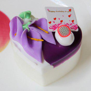 Squishy Toy PU Simulation Heart Cake Model - PURPLE PURPLE