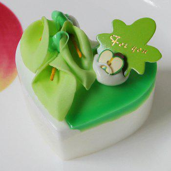 Squishy Toy PU Simulation Heart Cake Model - GREEN GREEN