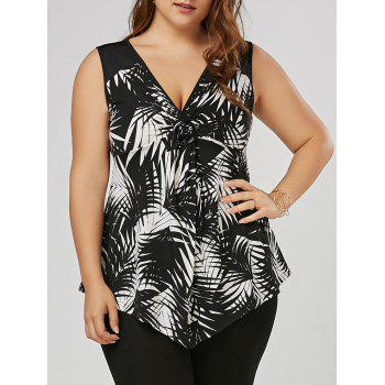 Plus Size Twist Front Slim Fitting Top