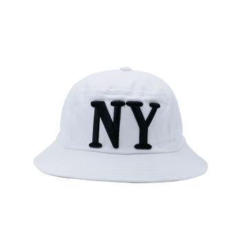 Letters Embroidered Round Top Bucket Hat - WHITE WHITE