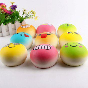 Slow Rising Emoji Bread Shape Squishy Toy - RANDOM COLOR