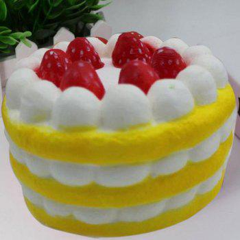 Slow Rising Squishy Toy Simulation Strawberry Cream Cake - YELLOW YELLOW